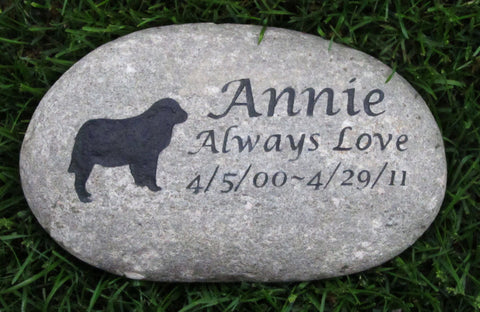 Pet Memorial Stone, Pet Stone,  Golden Retriever Pet Memorial Stone, Headstone, Gravestone, 9-10 inch