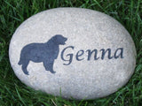 Pet Memorials. Pet Memorial Stone. Golden Retriever Pet Memorial Stone, Dog Memorials, 6-7 Inch