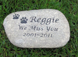 Personalized Memorial Burial Stone Grave Maker Tombstone 8-9 Inch Memorial Headstone Marker Memorial Stone