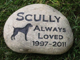 Weimaraner Memorial Stone, Memory Stone, Any Breed 9-10 Inch - MainlineEngraving.Com
