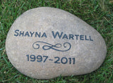 Memorials Stones, Garden Stone, Pet or Person 11-12 Inch