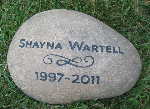 Personalized Memorials Stones Pet or Person 9-10 Inch Memorial Tree Garden Stone