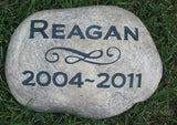Pet Memorial Stone, Headstone, Dogs, Cats Grave Marker 7-8 Inch