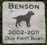 Labrador Retriever Memorial Stone Grave Stone Marker Labrador Retriever Memory Stone 6 x 6 Inch Burial Pet Stone Memorial Marker - Pet Memorial Stones, Personalized Pet Stone Memorial Grave Marker, Dog Memorial, Cat Memorials, Pet Gravestone Markers, Headstone