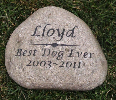 Personalized Pet Memorial Stone Grave Stone Headstone Marker 7-8 Inch Burial Stone