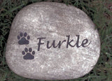 PERSONALIZED Pet Stone Headstone Tombstone Memorial Grave Marker Headstone for Dog or Cat 6-7 Inch Memorial Cemetery Burial Stone Maker