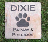 Memorial Stone Pet Dog, Cat Grave Marker 6 x 6 Inch