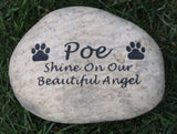 Personalized Pet Memorials Dog Cat Gravestone 8-9 Inch Memorial Burial Stone Marker