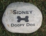 Garden Memorial Stone | Dog Memorials | Grave Marker | Pet Memorial 6-7 Inch