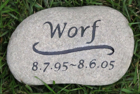 Pet Headstone, Cat Memorial Stone, Burial Gravestone Marker 6-7 Inch