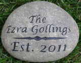 Engraved Address Marker Garden Stone 7-8 Inch Or Oathing Wedding Stone