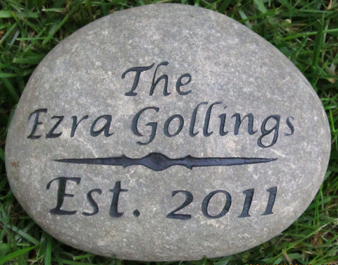 Oathing Stone or Engraved Address Marker 7-8 Inch