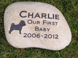 Pug Memorial Stone, Pet Stone, Memory Stone, Tombstone 9-10 Inch