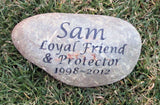 Personalized Memorial Stone for Dog Cat Memorial Pet Stone Garden Memorial Stone 9 - 10 Inch Memorial Stone Grave Maker