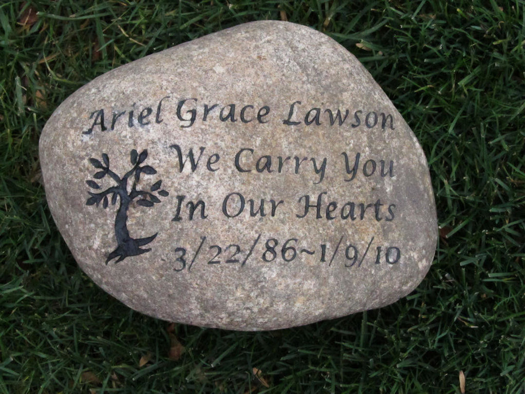 Garden Stone Memorial Personalized memorial stone memorial stone garden stone memorial personalized memorial stone memorial stone garden stone memorial friend child family member memorial tree marker 10 11 inch memorial stone workwithnaturefo