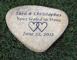 Personalized Oathing Stone - Wedding Stone Engraved Wedding Gift 10-11 Inch Stone - Pet Memorial Stones, Personalized Pet Stone Memorial Grave Marker, Dog Memorial, Cat Memorials, Pet Gravestone Markers, Headstone