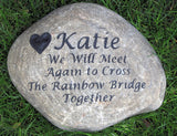 Rainbow Bridge Memorial Stone, Headstone, Gravestone 10-11 Inch
