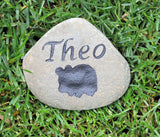 Personalized Guinea Pig Hamster or Gerbil Memorial Stone Pet Stone Memorial  4-5 Inch Grave Marker Stone Memorial