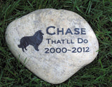 Sheltie Memorial Stone, Tombstone, Any Breed 9-10 inch