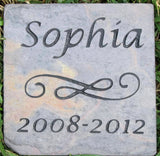 PERSONALIZED Pet Memorial Stone Grave Marker Headstone 6 x 6 Memorial Marker Headstone Gravestone