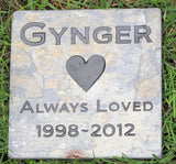 Pet Stone Memorial, Headstone, Grave Marker, Tombstone 6 x 6 Inch - MainlineEngraving.Com