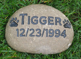Personalized Pet Memorials Dog Cat Memorial Grave Marker Memorial Stone 5-6 Inches Wide