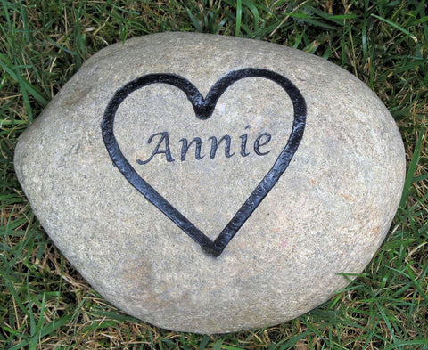 PERSONALIZED Pet Memorial Stone Grave Marker 6-7 Inch Burial Stone Marker
