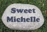 Personalized Pet Memorial Stone for Dogs Cats any Pet Headstone Gravestone 10-11 Inch Grave Marker