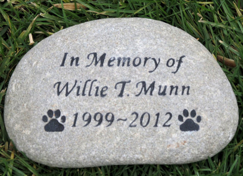 Personalized Stone Memorial Rock In Memory Stone Grave Marker 10-11 Inch Memorial Stone Headstone Burial Garden Memorial Stone