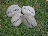 Personalized Gift Garden Stone Family Engraved Stone 3-4 Inch Garden Stones - Pet Memorial Stones, Personalized Pet Stone Memorial Grave Marker, Dog Memorial, Cat Memorials, Pet Gravestone Markers, Headstone