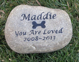 Pet Stone Memorial, Gravestone Markers 8 - 9 inches - MainlineEngraving.Com