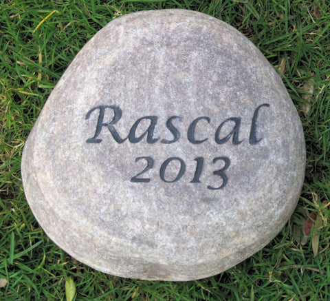 Personalized Pet Memorial Stone Grave Marker Garden Memory Stone 5-6 Inch Grave Memorial Burial Stone Marker