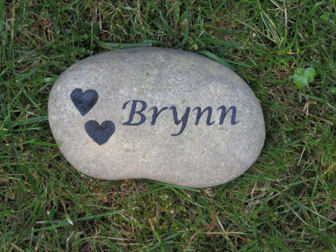 Personalized Pet Memorial Garden Stone Grave Marker 6-7 Inches Memorial Gravestone