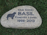 Golden Retriever Pet Memorials, Garden Memorial Stone 9-10 Grave Marker