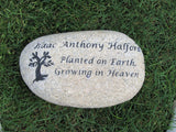 Personalized Memorial Stone Engraved Memorial 11-12 Garden Memorial Stone With Tree of Life