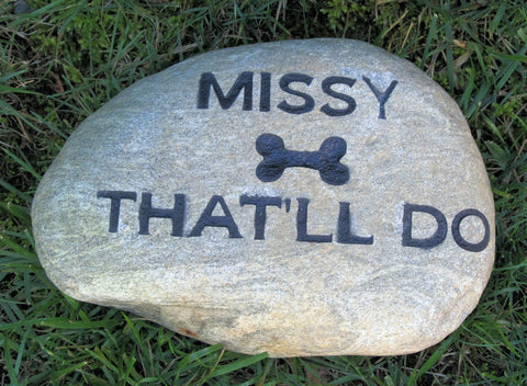 Personalized Pet Memorial Stone Garden Memorial Gravestone 8-9 Inch Memorial Burial Pet Stone Headstone Grave Marker
