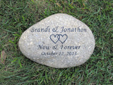Personalized Oathing Wedding Stone Gift 10-11 Inch Oath Stone Wedding Gift Engagement Wedding Gift Idea - Pet Memorial Stones, Personalized Pet Stone Memorial Grave Marker, Dog Memorial, Cat Memorials, Pet Gravestone Markers, Headstone