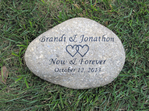 Personalized Oathing Wedding Stone Gift 10-11 Inch