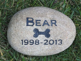 Memorial for Pet Dog, Grave Marker Headstone 6-7 Inch - MainlineEngraving.Com