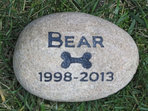 Personalized Memorials for Pet Dog Grave Marker Headstone 6-7 Inch Memorial Stone Headstone Grave Marker