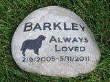 Pet Memorial Stone, Golden Retriever, Memorial Headstone 10-11 Inch