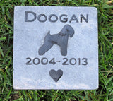 Wheaton Pet Memorial Stone, Garden Memorial, Any Breed 6 x 6 Slate - MainlineEngraving.Com