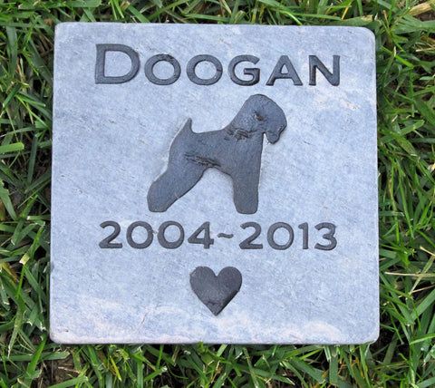 Wheaton Pet Memorial Stone, Garden Memorial, Any Breed 6 x 6 Slate