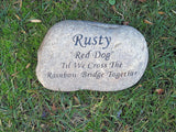 Pet Memorial Stone, Headstone, Grave Marker 11-12 Inch - MainlineEngraving.Com
