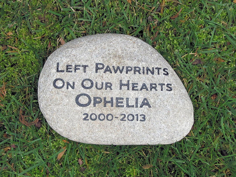 Personalized Pet Memorial Stone for Dogs Cats any Pet Headstone Gravestone 10-11 Inch Memorial Stone Burial Grave Marker
