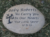 Personalized Memorial Stone for Loss of a Loved One 10-11 Inch Memorial Stone for Baby, Son, Daughter, Friend, Mom, Dad Anyone