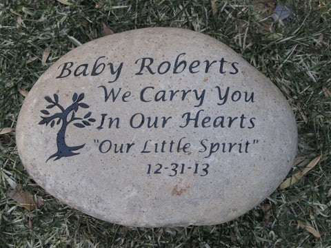 Memorial Stone, Loss of Baby, Son, Daughter, Friend, Mom, Dad 10-11 Inch