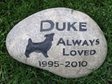 Pet Grave Marker, Jack Russell Memorial Stone 9-10 Inches