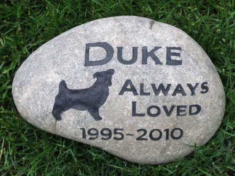 Jack Russell Pet Memorial Stone 9-10 Inches - MainlineEngraving.Com