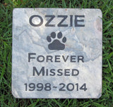 Mutt, Dog Memorial Stone, Garden Pet Memorial Stone 6 X 6 Slate